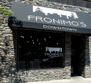 Fronimo's Downtown restaurant exterior in downtown Canton Ohio