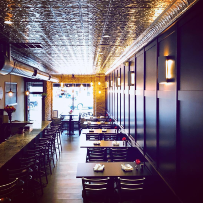 Interior photo of Fronimo's Downtown restaurant in downtown Canton Ohio